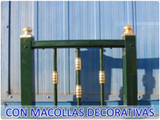 Barandillas con macollas decorativas